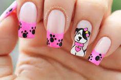 Resultado de imagen para decoraciones de uñas para niñas Nail Polish, Make Up, Nails, Beauty, Designed Nails, Little Girl Nails, Nail Decorations, Nail Art, Nail Manicure