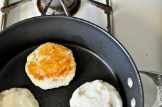 These aren't really hard enough to need a recipe, but this is a good reminder to make pancakes with leftover mashed potatoes!