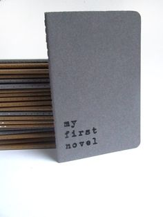 my first novel - Moleskine pocket size notebook for the novel writer in you