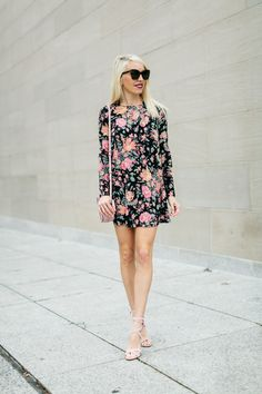 The Real Fashionista wearing a floral show me your mumu dress for Valentine's Day