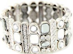 https://www.cityblis.com/6425/item/13714  All That Glitters - $46 by sistaco   Silver Diamante Bracelet
