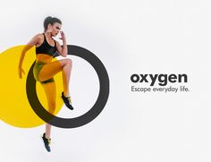 Echa un vistazo a este proyecto @Behance: \u201cOxygen Fitness Center | Logo design & Branding\u201d www.behance.net/...