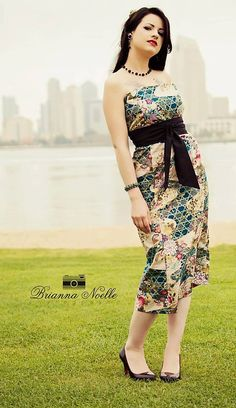 Asian Print Dress & Sash by SewCalbyCatLewis on Etsy, $60.00