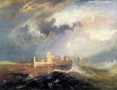 Quillebeuf, at the Mouth of Seine - William Turner, 1833