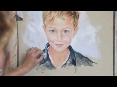 Making a Pastel Portrait, by Graciela Bombalova, Bogra - YouTube