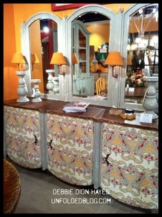 Color, Contrast, and Everything Painted Caught My Eye at the High Point Furniture Market!