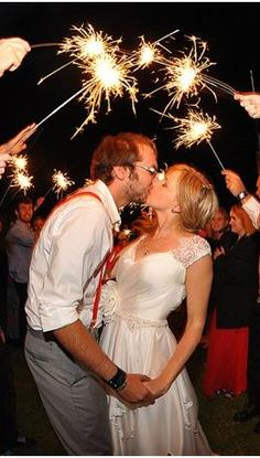 Wedding sparklers are always fun...and great photo ops for an evening wedding. Christopher Smith Photography