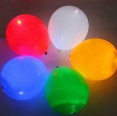 5PCS #LED Light Up Balloons Luminous #Balloon For #Party Celebration