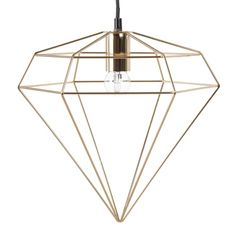 Gold Metal Wire Pendant Light on Maisons du Monde. Take your pick from our furniture and accessories and be inspired! Wire Pendant Light, Industrial Pendant Lights, Pendant Lighting, Suspension Design, Decoration, Metallica, Gold, Ceiling Lights, Furniture Shopping