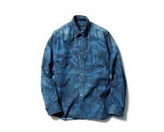 SOPHNET* Camouflage Denim Shirt