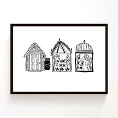 Shed Glasshouse Hothouse original lino print by melaniewickham, $40.00