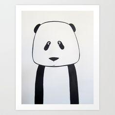 No. 007 - Modern Kids and Nursery Art - The Panda Art Print by Adriane Duckworth - $22.88