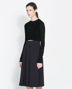 Image 2 of CROPPED KNITTED SWEATER from Zara