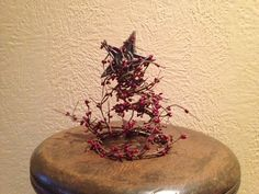 Christmas tree from old bed spring by MariesCountryMarket on Etsy, $10.00