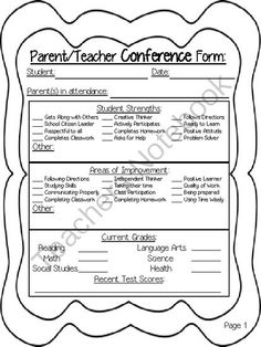 Parent Teacher Conferences: 10 Tips and Tricks by Create