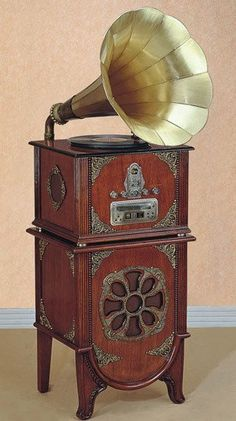 This Victrola dates from the early 1880's.