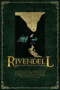 Rivendell Travel Poster from Lord of the Rings and the Hobbit