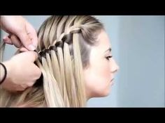 Cómo hacer una trenza cascada || Recogidos sencillos con trenzas - YouTube Girl Hairstyles, Braided Hairstyles, Waterfall Braid Tutorial, Braids Step By Step, Girls Makeup, Hair And Nails, Hair Makeup, Hair Color, Hair Beauty