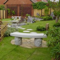 Curved Japanese Granite Bench