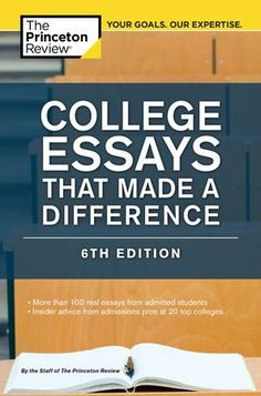 No one knows colleges better than The Princeton Review! Not sure how to tackle the scariest part of your college application—thepersonal essays? Get a little inspiration from real-life examples ofsuccessful essays that scored! In College Essays That Made a Difference, 6thEdition, you'll find: • More than 100 real essays written by 90 unique college hopefuls applying toHarvard, Stanford, Yale, and other top schools—along with their stats andwhere they ultimately got in • Tips and advice on Custom Essay Writing Service, Essay Writing Help, Paper Writing Service, Essay Writer, Custom Writing, Writing Services, Dissertation Writing, College Admission Essay, College Essay