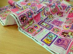 Sailormoon Pretty Guardian Cotton Japanese Fabric. by Bandai. Imported from Japan    Cotton. Medium weight. Measure: 50cm x 35cm / 20 x 14    If you