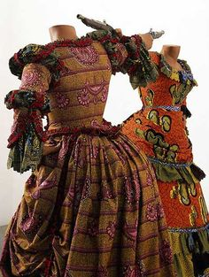 Wow - never seen African fabric made into Victorian clothing!  Yinka Shonibare