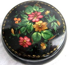 Russian Lacquer Box. This Box is considered a little inferior, not as skillfully painted because it is made of metal.