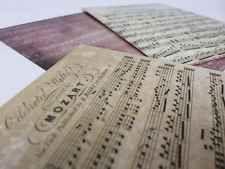 3 Music Sheet Vtg Antique Style Postcards Pictures 14 X 9.5cm Lot 7