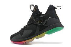 Newest Lebron 14 XIV Rise and Shine Iridescent Gold Black Rainbow