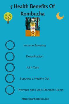 Health Benefits Of Kombucha for more: https://shantiholistics.com/2017/08/22/5-health-benefits-of-kombucha/  holistic, health, natural remedy, drink, alternative, freespirit, wellness, healhty, weightloss, immune support, detoxification, medicine, exercise, yoga, gut, stomach, supplements, supplement, drink, hippielife