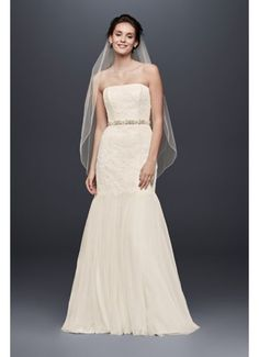 Find the perfect Galina wedding dress at David's Bridal. Our Galina bridal collection includes 2020 Galina wedding dresses in elegant designs! Galina Wedding Dress, Lace Mermaid Wedding Dress, Mermaid Dresses, Lace Dresses, Lace Skirt, Wedding Dresses For Sale, Wedding Gowns, Trendy Wedding, Wedding Ideas