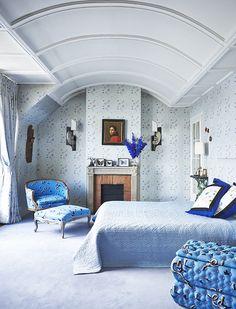 La chambre de l'appartement parisien d'Inès Sastre décoré par Vincent Darré © Gonzalo Machado