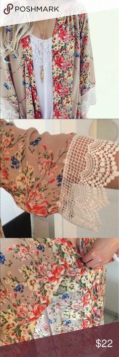 Floral lace kimono!! NWT!! Brand new lace kimono!! Sweaters Cardigans