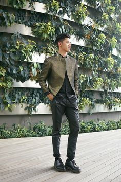 GLEAM by David Guison                The jacket is the only item I like about this outfit but then again it's #mensfashion