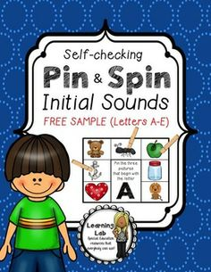 FREE SAMPLE!  Pin and Spin is a self-correcting activity that students can use during centers or as a review of skills. Students read the prompt, then PIN their clothespins on their answers. To check their work, students SPIN their board over to the back. Their clothespins they pinned to the front should line up with the correct answers shown on the back.