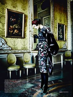 Catherine McNeil for Vogue UK September 2013 by Mario Testino | The Fashionography