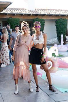 Lais Ribeiro with Taylor Hill during Coachella on April 14, 2017