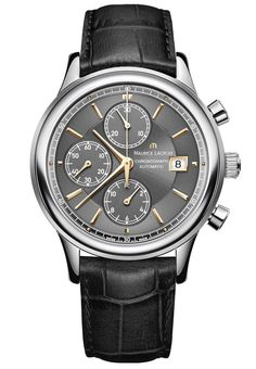 Maurice Lacroix Watch Les Classiques Chrononographe #basel-15 #bezel-fixed #case-material-steel #case-width-41mm #chronograph-yes #date-yes #delivery-timescale-call-us #dial-colour-grey #gender-mens #luxury #movement-automatic #new-product-yes #official-stockist-for-maurice-lacroix-watches #packaging-maurice-lacroix-watch-packaging #style-dress #subcat-les-classiques #supplier-model-no-lc6158-ss001-330-001 #warranty-maurice-lacroix-official-2-year-guarantee #water-resistant-30m