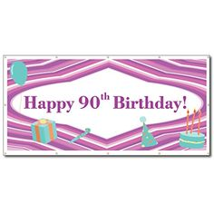 Happy Birthday Purple Teal Party Supplies 3 x 6 Vinyl Banner ** More info could be found at the image url. (This is an affiliate link) Happy 80th Birthday, Happy Birthday Banners, Happy 30th, Teal Party, Vinyl Banners, White Vinyl, Purple Teal, Banner Design, Breeze