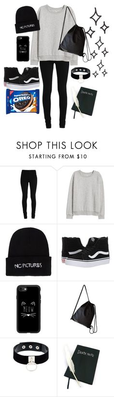 """Untitled #9"" by killixgstalking ❤ liked on Polyvore featuring H&M, Nasaseasons, Vans, Casetify, Manokhi, men's fashion and menswear"
