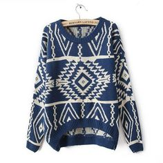 Blue Long Sleeve Geometric Pullovers Sweater for Women Ideasuke Shop,http://www.amazon.com/dp/B00E3CJTVC/ref=cm_sw_r_pi_dp_5p9Bsb0YRT6KDWYB