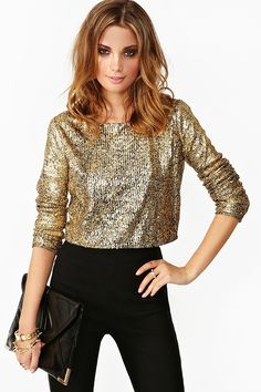 Goldmine Crop Top in Clothes at Nasty Gal