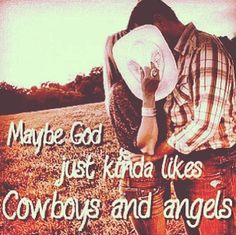 Country lyrics Cowboys & Angels