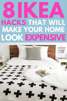 8 IKEA furniture hacks that will make your home look expensive. Get the look for cheap! #DIY #ikeahack