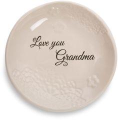 "Pavilion Gift Company""Love You Grandma""Ivory Ceramic Keepsake Jewelry 5""Plate 💐 #PavilionGiftCompany #JewelryTrinketsEtcHolder"