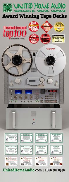 **United Home Audio / UHA-HQ Series Tape Decks**