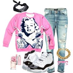 """""""Thuggin"""" by britt1204 on Polyvore"""