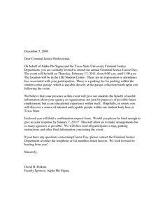 Sample Career Day Invitation Letter School Yolanda BlogFormal Letter Template Business Letter Sample