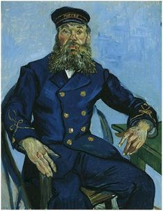 Portrait of the Postman Joseph Roulin Vincent Van Gogh Painting, Oil on Canvas  Arles: Early August, 1888