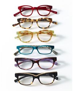 I am crazy about these frames! I would love to use the teal frames for a second pair of prescription glasses.  2/2/14